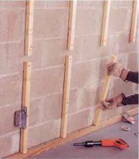 covering foundation walls home carpentry green building central