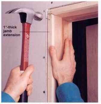 Installing a prehung interior door home carpentry - How to install a prehung exterior door ...