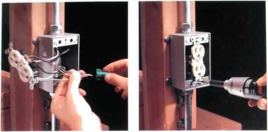 how to connect a receptacle